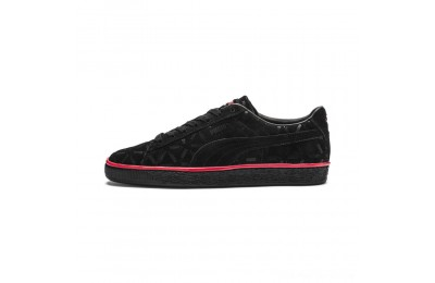 Puma Suede Classic Lux Sneakers Black-High Risk Red Outlet Sale