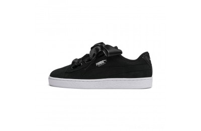 Black Friday 2020 Puma Suede Heart Galaxy Women's Sneakers Black- Silver Outlet Sale