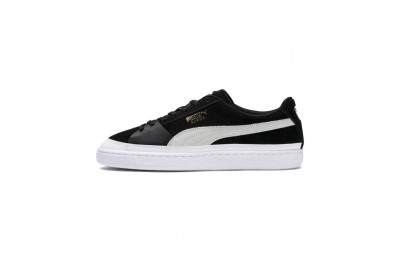 Black Friday 2020 Puma Suede Skate Sneakers Black- White Outlet Sale
