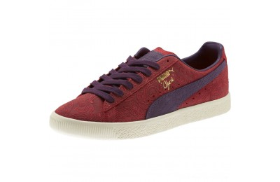 Puma Clyde Paisley Sneakers Brbds Chery-Indigo-Whspr Wht Outlet Sale