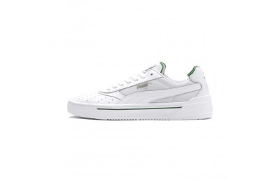 Puma Cali-0 Sneakers PumaWht-Amazon Green-PumaWht Outlet Sale