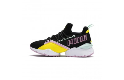 Black Friday 2020 Puma Muse Maia Trailblazer Women's Sneakers Black-Blazing Yellow Outlet Sale