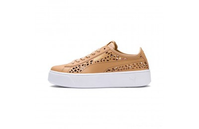 Puma PUMA Vikky Stacked Laser Cut Women's Sneakers Toast-Toast Outlet Sale