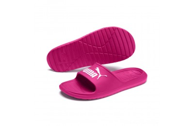 Puma Divecat v2 Slide Sandals Fuchsia Purple- White Outlet Sale