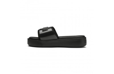 Black Friday 2020 Puma Platform Fashion Women's Slide Sandals Black- Black Outlet Sale