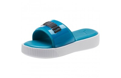 Puma Platform Fashion Women's Slide Sandals Caribbean Sea- White Outlet Sale