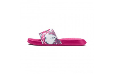 Puma Popcat Flower Power Women's Slide Sandals Fuchsia Purple- White Outlet Sale