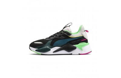 Black Friday 2020 Puma RS-X Toys Black-Blue Atoll Outlet Sale