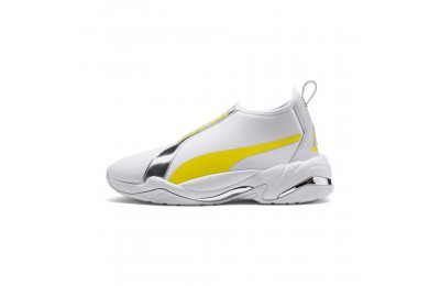 Puma Thunder Trailblazer Metallic Women's Sneakers White-Blazing Yellow Outlet Sale