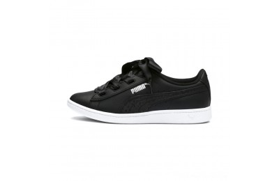 Black Friday 2020 Puma PUMA Vikky Ribbon Satin Sneakers JR Black- Silver-White Outlet Sale