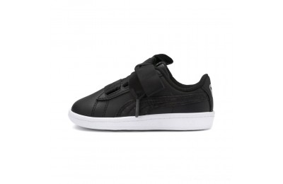 Puma PUMA Vikky Ribbon Satin AC Sneakers INF Black- Silver-White Outlet Sale