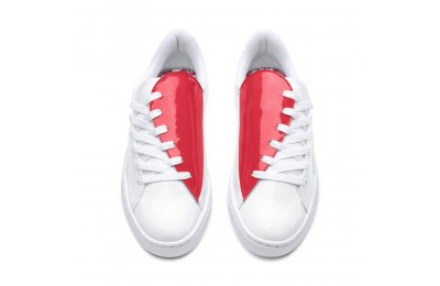 Black Friday 2020 Puma Basket Crush Women's Sneakers White-Hibiscus Outlet Sale