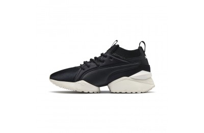 Puma Muse Maia Knit Premium Women's Shoes Black-Whisper White Outlet Sale