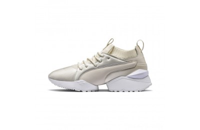 Black Friday 2020 Puma Muse Maia Knit Premium Women's Shoes Whisper White- White Outlet Sale