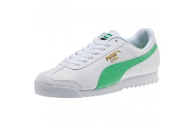Black Friday 2020 Puma Roma Basic + Sneakers White-Irish Green Outlet Sale