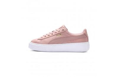 Puma Suede Platform Shimmer Women's Sneakers Bridal Rose- White Outlet Sale