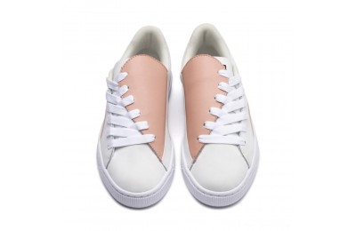 Puma Basket Crush Paris Women's Sneakers Peach Beige- White Outlet Sale
