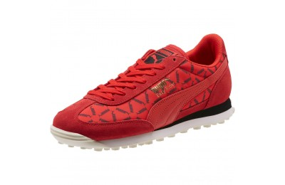 Puma Easy Rider Lux Running Shoes High Risk Red-Whisper White Outlet Sale