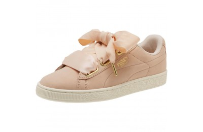 Puma Basket Heart Soft Women's Sneakers Cream Tan-Marshmallow Outlet Sale