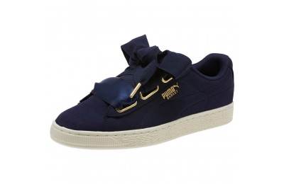Black Friday 2020 Puma Basket Heart Soft Women's Sneakers Peacoat-Marshmallow Outlet Sale