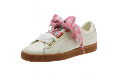 Black Friday 2020 Puma Basket Heart Wonderland Women's Sneakers Marshmallow- Team Gold Outlet Sale