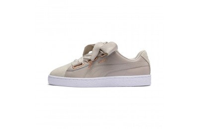 Black Friday 2020 Puma Basket Heart Woven Rose Women's Sneakers Silver Gray- White Outlet Sale