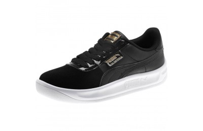 Black Friday 2020 Puma California Monochrome Women's Sneakers Black- Team Gold Outlet Sale