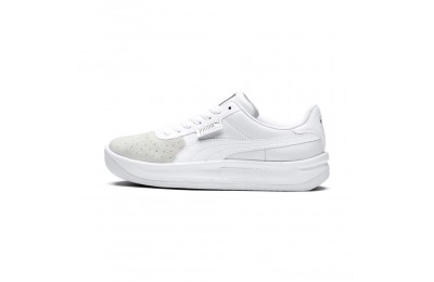Puma California Monochrome Women's Sneakers White- Silver Outlet Sale