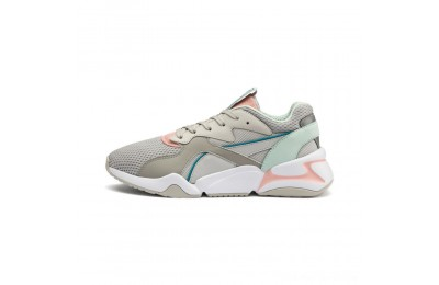 Black Friday 2020 Puma Nova Mesh Women's Sneakers Gray Violet-Peach Bud Outlet Sale