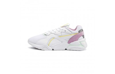 Black Friday 2020 Puma Nova Mesh Women's Sneakers White-Fair Aqua Outlet Sale