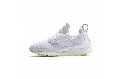 Puma Muse Trailblazer Women's Sneakers White-Blazing Yellow Outlet Sale