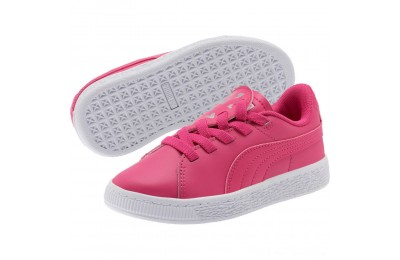 Puma Basket Crush Glitter Hearts AC Sneakers PSFuchsia Purple- White Outlet Sale
