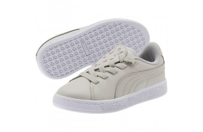 Puma Basket Crush Glitter Hearts AC Sneakers PSGray Violet- White Outlet Sale