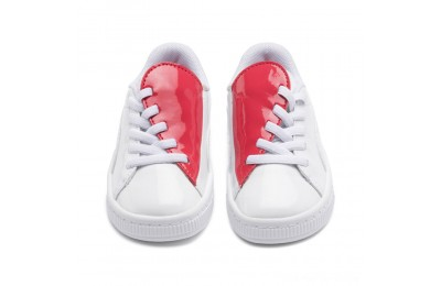 Puma Basket Crush Patent AC Sneakers PS White-Hibiscus Outlet Sale