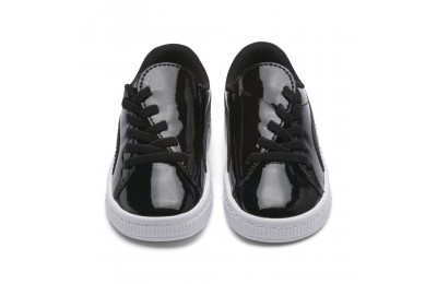 Puma Basket Crush Patent AC Sneakers INF Black- White Outlet Sale