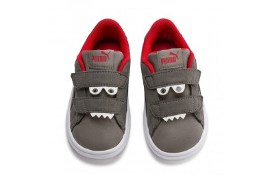 Puma PUMA Smash v2 Monster Sneakers PSAsphalt-C. Gray-Red-White Outlet Sale