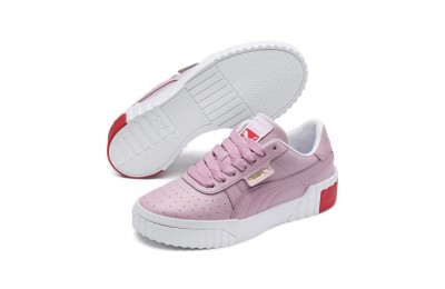 Puma Cali Sneakers PS White-Hibiscus Outlet Sale