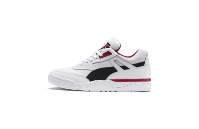 Puma Palace Guard Men's Sneakers White- Black-red Outlet Sale
