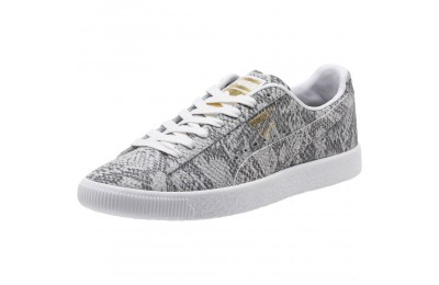 Puma Clyde Reptile Women's Sneakers P Wht-P Blk-Metallic Gold Outlet Sale