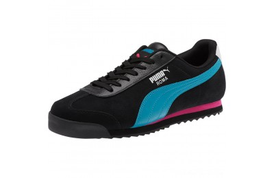 Black Friday 2020 Puma Roma XTG Perf Men's Sneakers P Black-P White-Carib Sea Outlet Sale