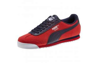Black Friday 2020 Puma Roma XTG Perf Men's Sneakers High Risk Red-Peacoat Outlet Sale