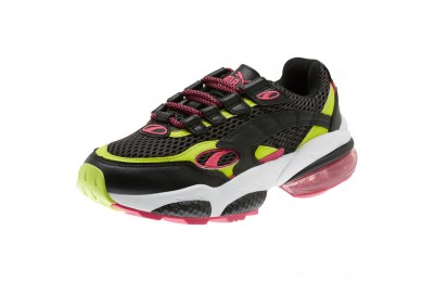 Black Friday 2020 Puma CELL Venom Fresh Mix Women's Sneakers Black-Limepunch Outlet Sale