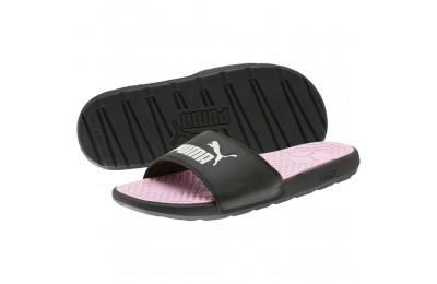 Black Friday 2020 Puma Cool Cat Women's Slides Black- White Outlet Sale