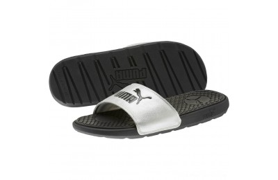 Black Friday 2020 Puma Cool Cat Metallic Women's Slides Black- Silver Outlet Sale