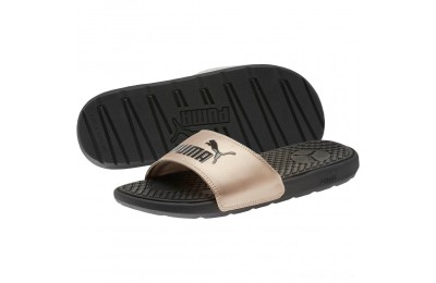 Black Friday 2020 Puma Cool Cat Metallic Women's Slides Black-Rose Gold Outlet Sale