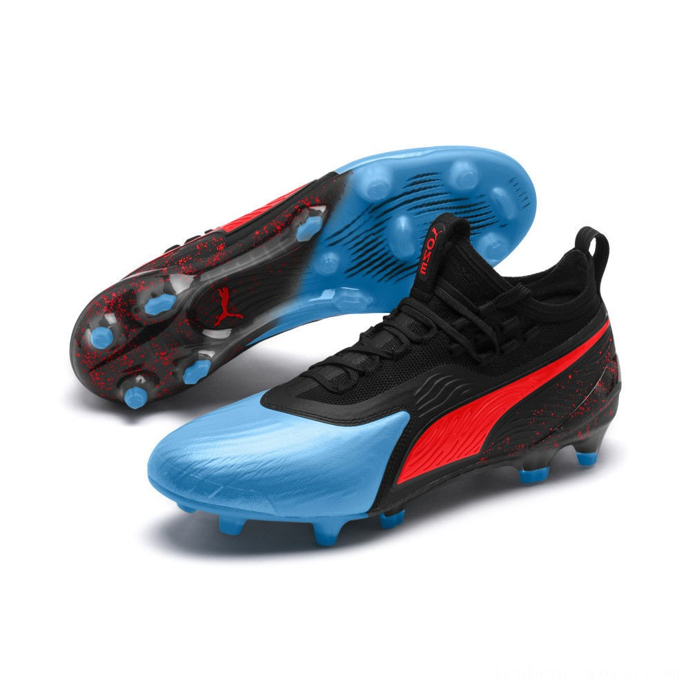Black Friday 2020 Puma PUMA ONE 19.1 FG/AG Men's Soccer CleatsBleu Azur-Red Blast-Black Outlet Sale