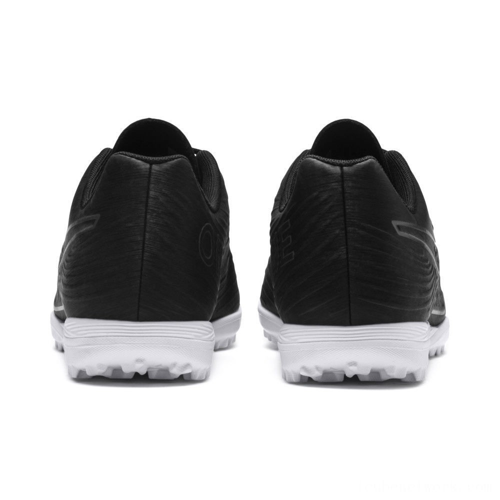Black Friday 2020 Puma PUMA ONE 19.4 TT Men's Soccer Cleats Black- Black-White Outlet Sale