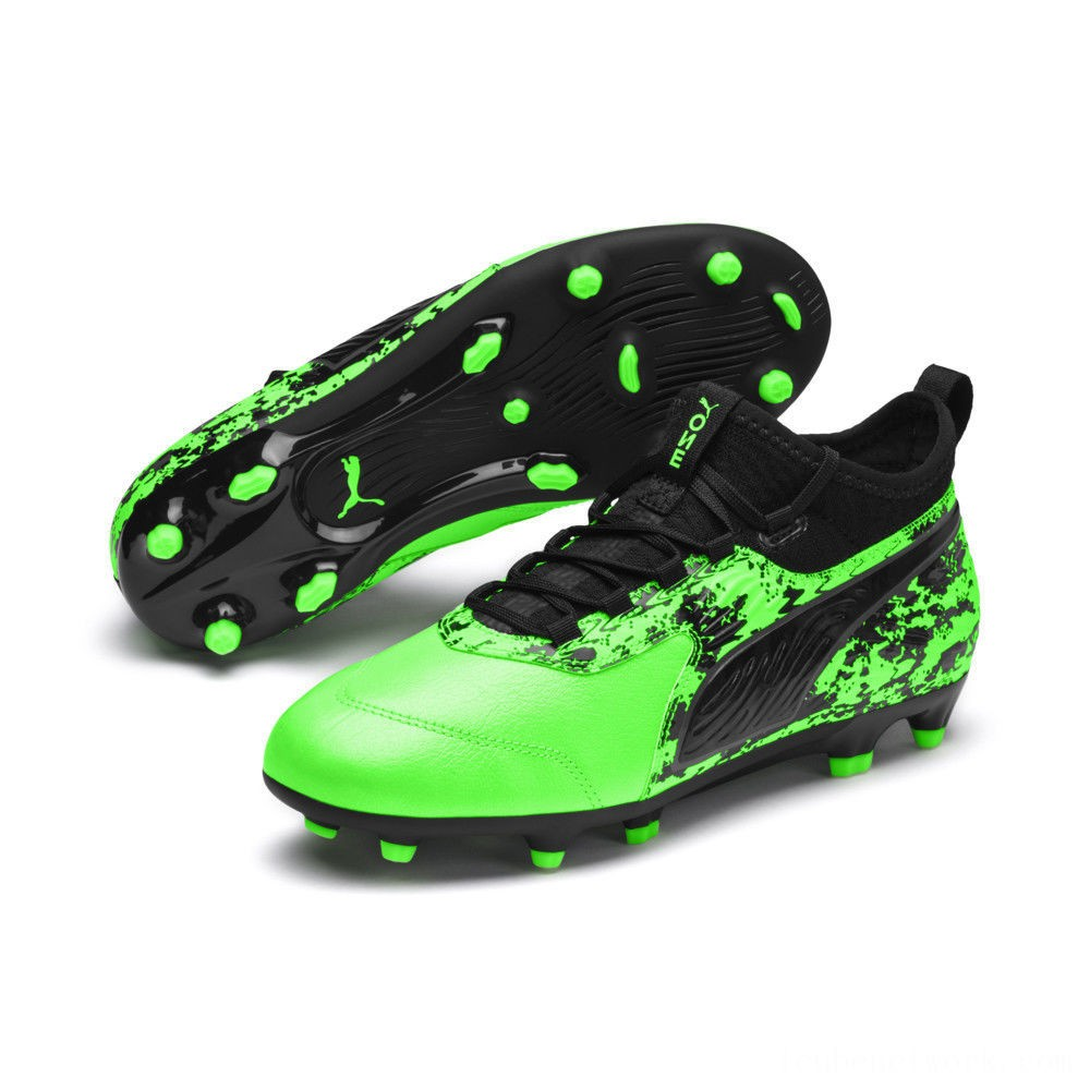 Black Friday 2020 Puma PUMA ONE 19.3 FG/AG Soccer Cleats JRGreen Gecko-Black-Gray Outlet Sale