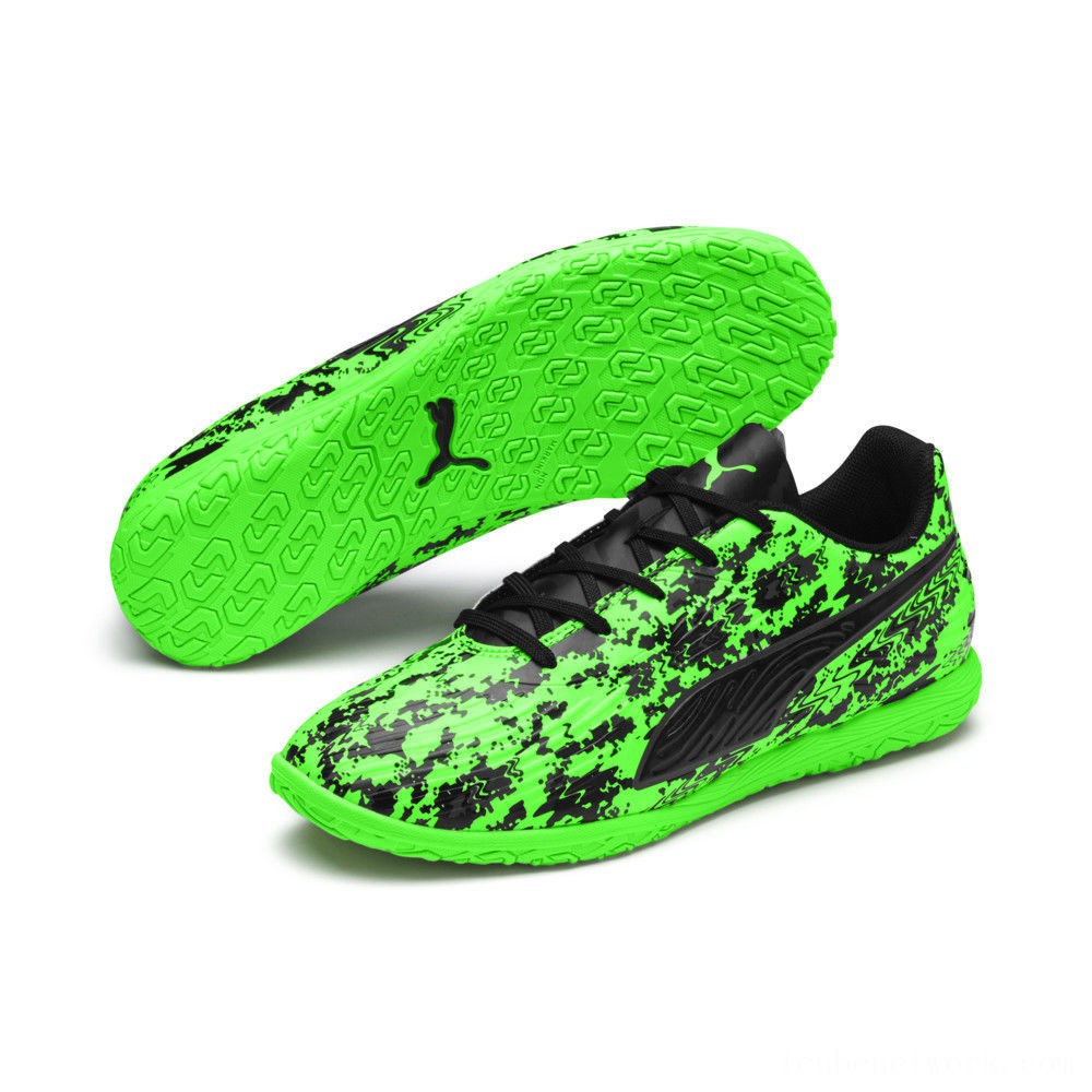 Puma PUMA ONE 19.4 IT Soccer Shoes JRGreen Gecko-Black-Gray Outlet Sale
