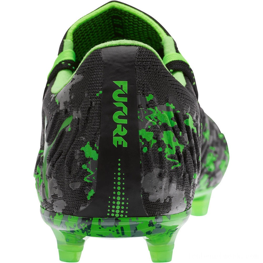 Black Friday 2020 Puma FUTURE 19.1 NETFIT Lo FG/AG Men's Soccer CleatsBlack-Gray-Green Gecko Outlet Sale